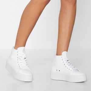 White platform high top sneakers brand new